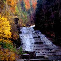 Buttermilk Falls Autumn Glow