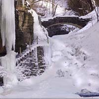 Cascadilla Gorge in Winter
