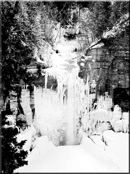 A photographic study of the ice that forms at Taughannock Falls State Park in upstate New York.