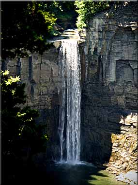 Sunlight on Taughannock Falls on Mid Summer's Day.